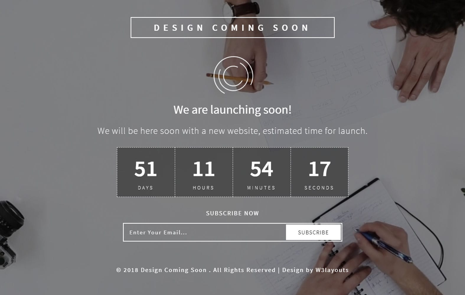 Design Coming Soon Responsive Widget Template