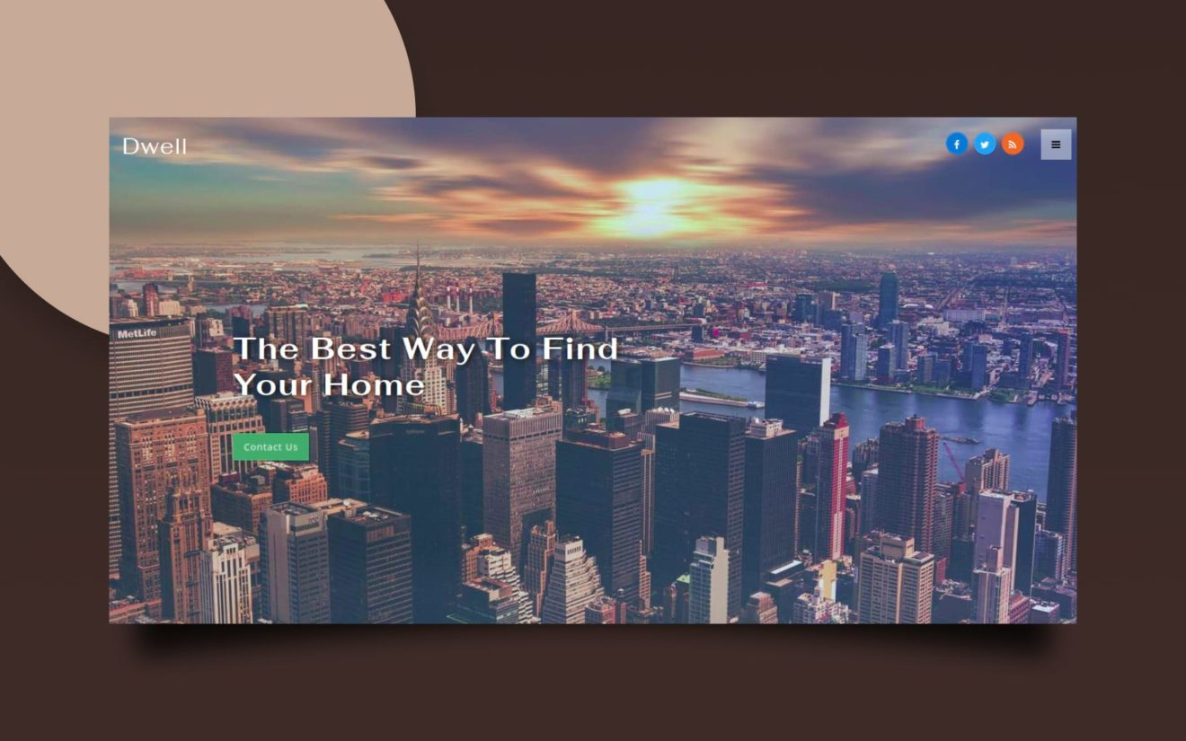 Dwell – Real Estate Category Bootstrap Responsive Web Template