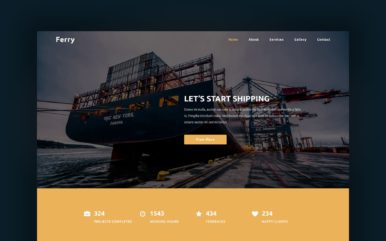 Ferry a Transport Category Bootstrap Responsive Web Template