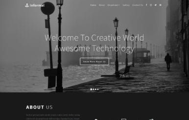 Informal a Multipurpose Flat Bootstrap Responsive Web Template