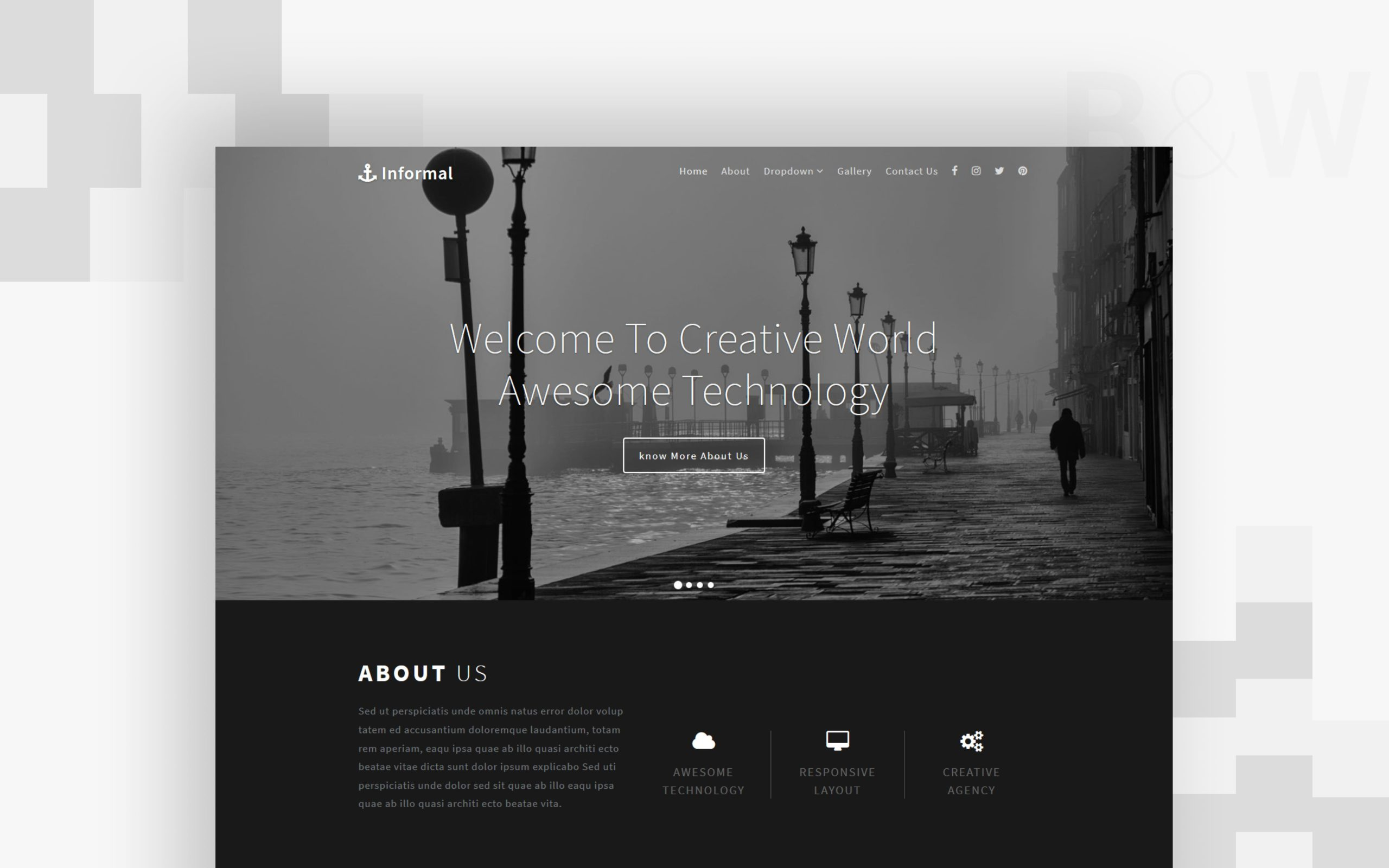informal website template