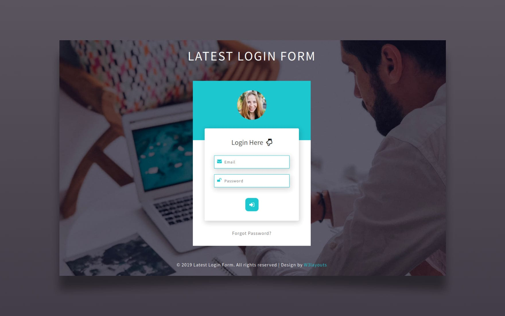 Latest Login Form Responsive Widget Template