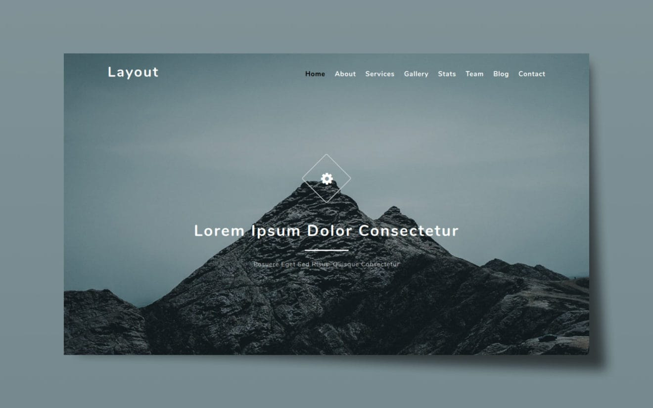 Layout a Flat Bootstrap Responsive Web Template