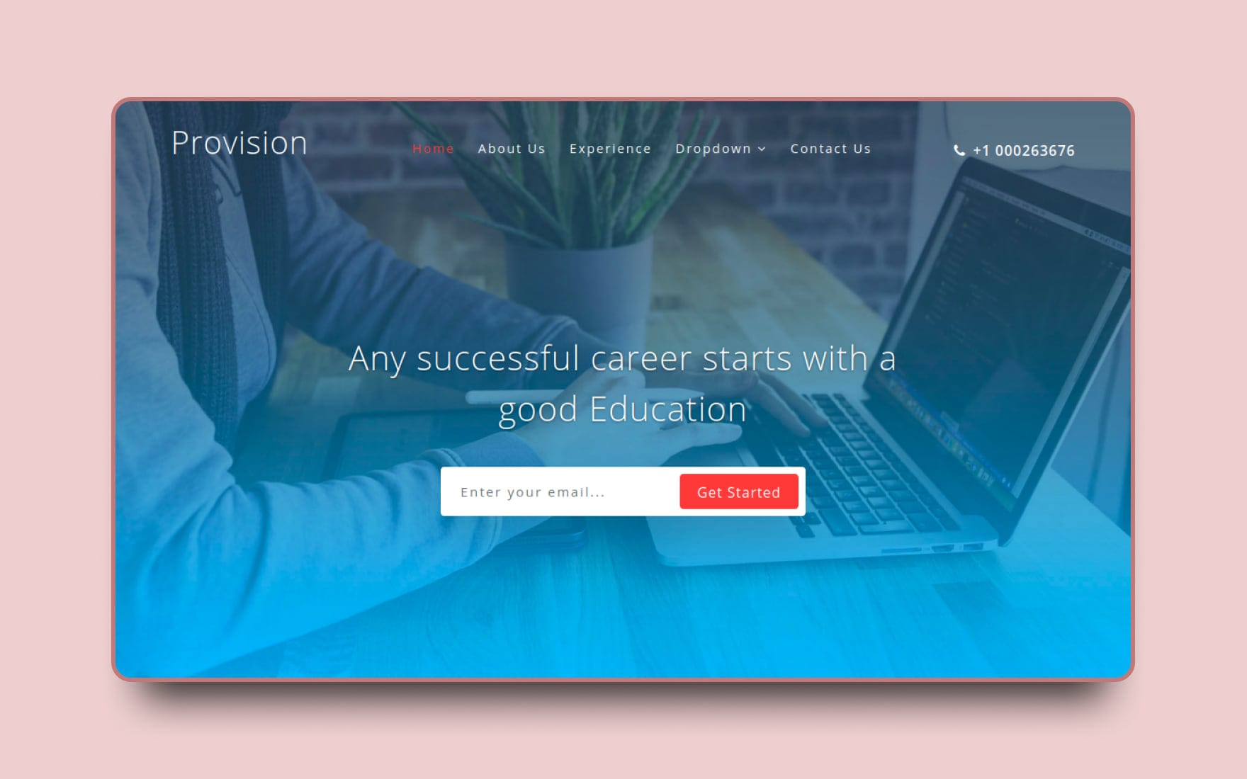 Provision Education Category Bootstrap Responsive web Template