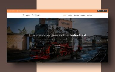 steam engine website template