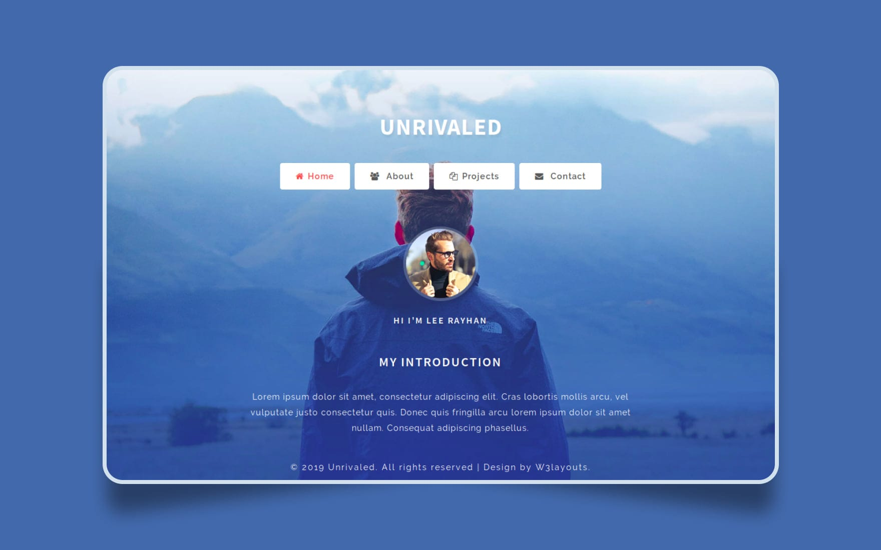 Unrivaled Personal Category Bootstrap Responsive Web Template