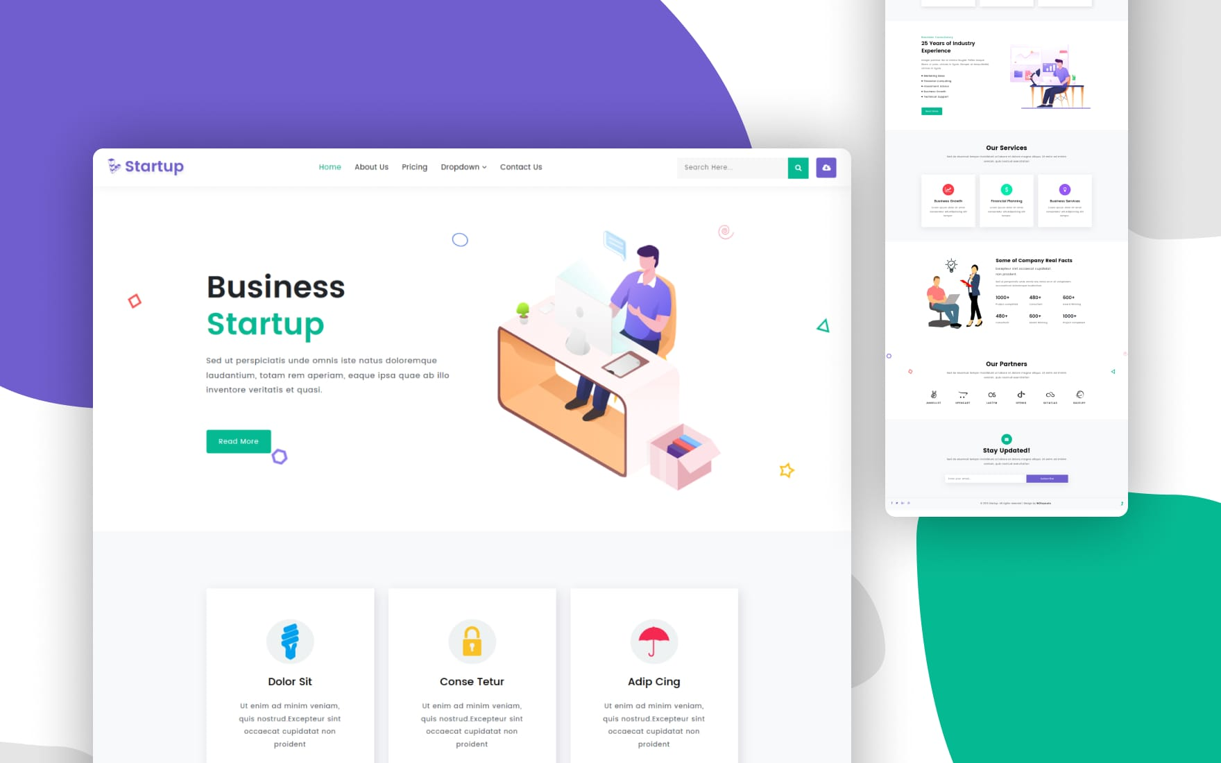 Startup a Corporate Category Bootstrap Responsive Web Template