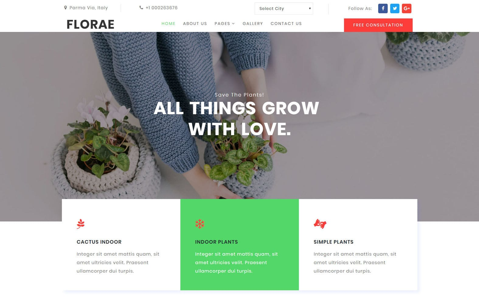 Florae Exterior Designs Category Bootstrap Responsive Website Template