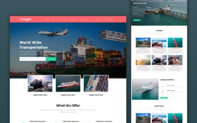 Freight a Transportation Category Bootstrap Responsive Web Template