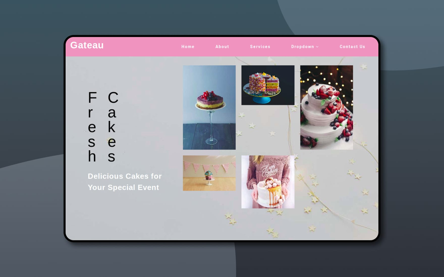 gateau-Boostrap-website-templates