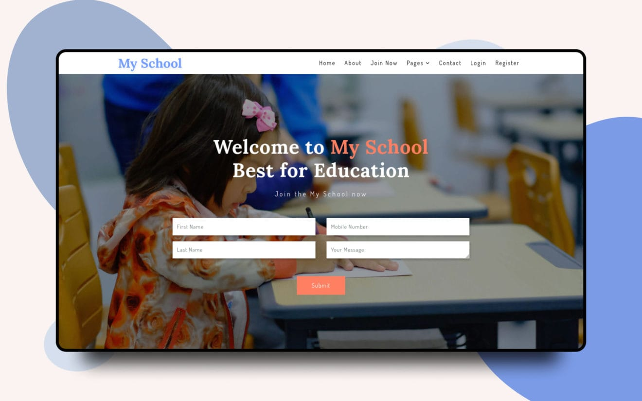 My School – Education Category Bootstrap Responsive Web Template