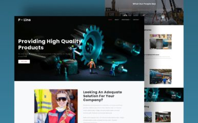 production line website template