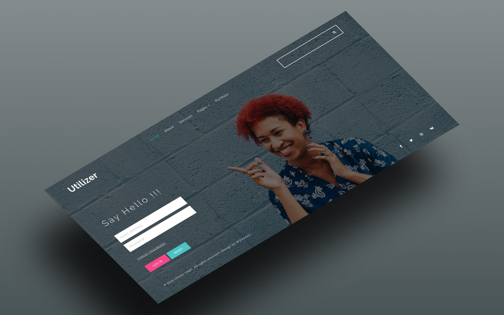Utilizer Login Form Flat Responsive Widget Template