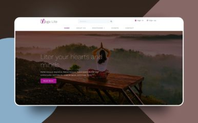 Yoga Lite a Sports Category Bootstrap Responsive Website Template