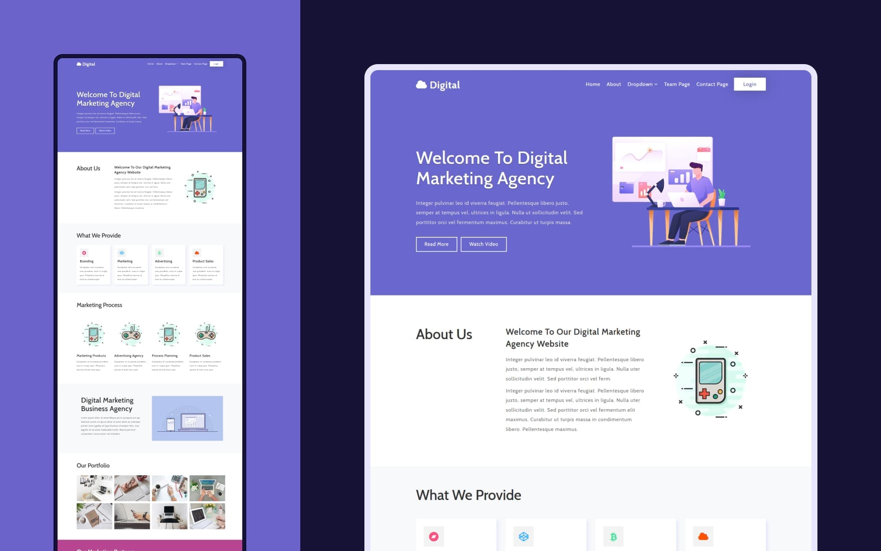 Digital a Business Category Flat Bootstrap Responsive Web Template