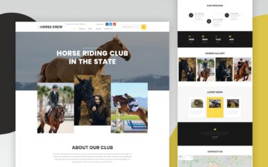 horse crew website template