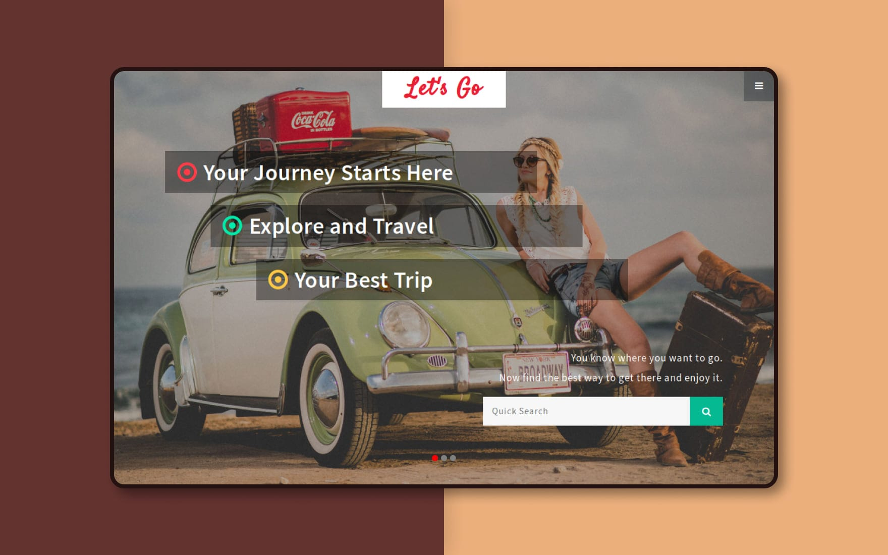 Lets Go a Travel Category Bootstrap Responsive Web Template
