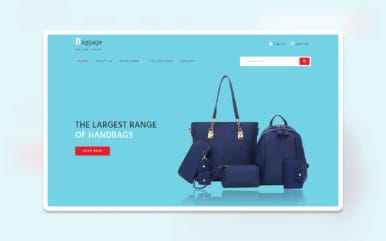 Baggage – E-commerce Category Bootstrap Responsive Web Template