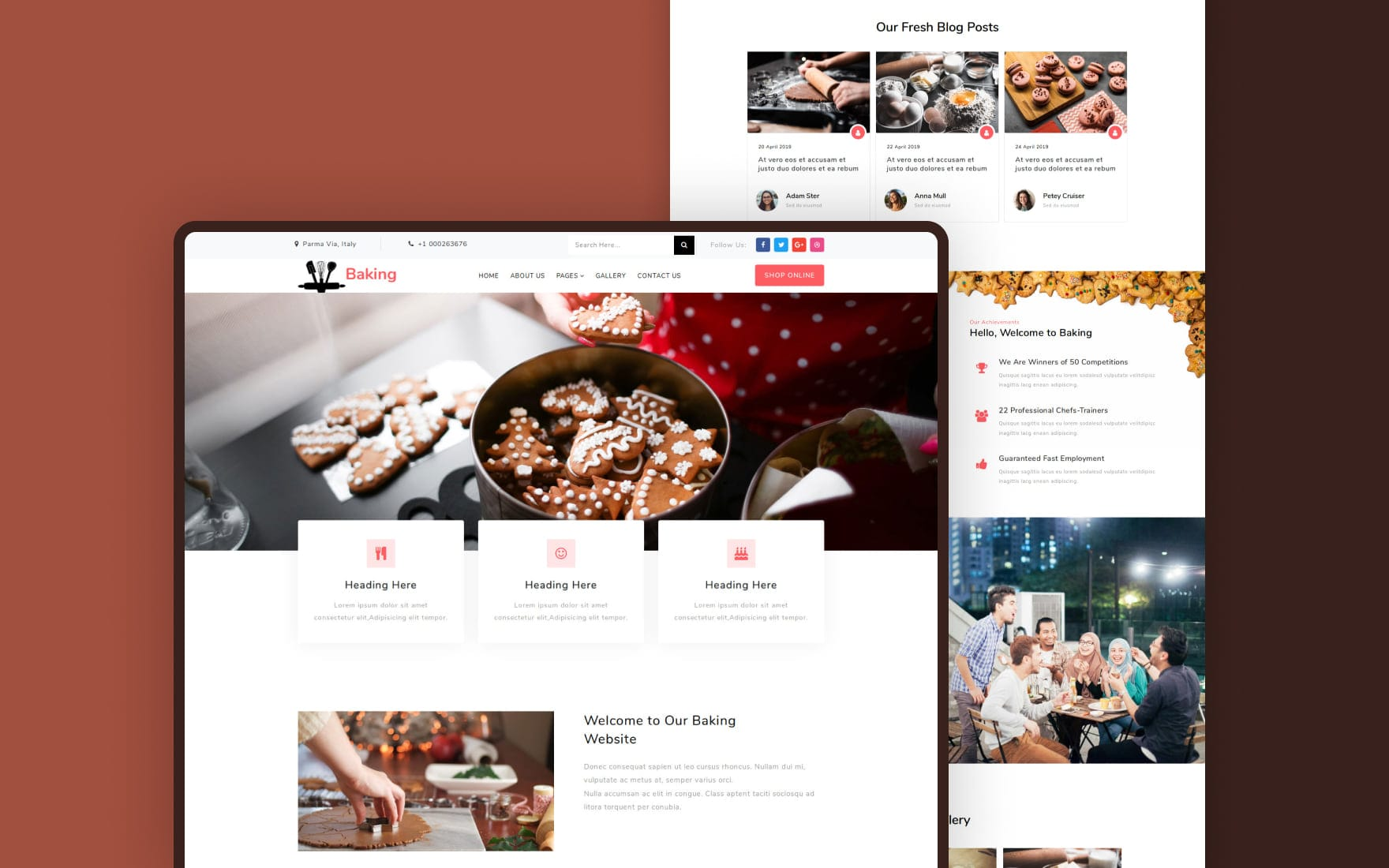 Baking a Restaurants Category Bootstrap Responsive Web Template