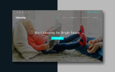 Informing an Education Category Bootstrap Responsive Web Template