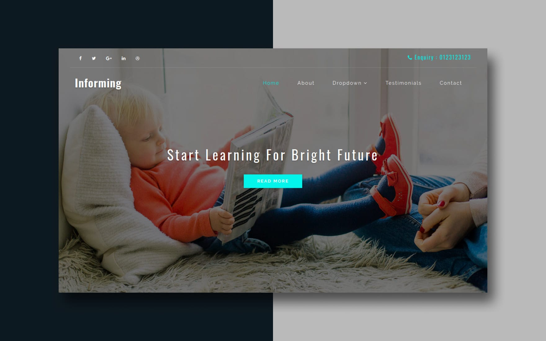 informing-website-template