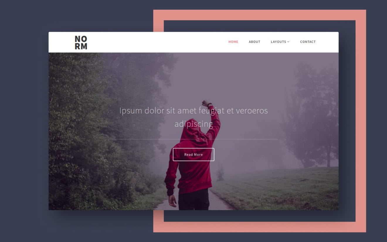 Norm a Multi Purpose Category Bootstrap Responsive Website Template