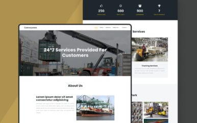 Conveyance a Transport Category Bootstrap Responsive Web Template