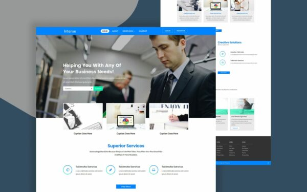 intence-website-template