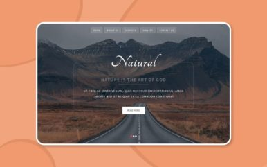 natural travel agency template