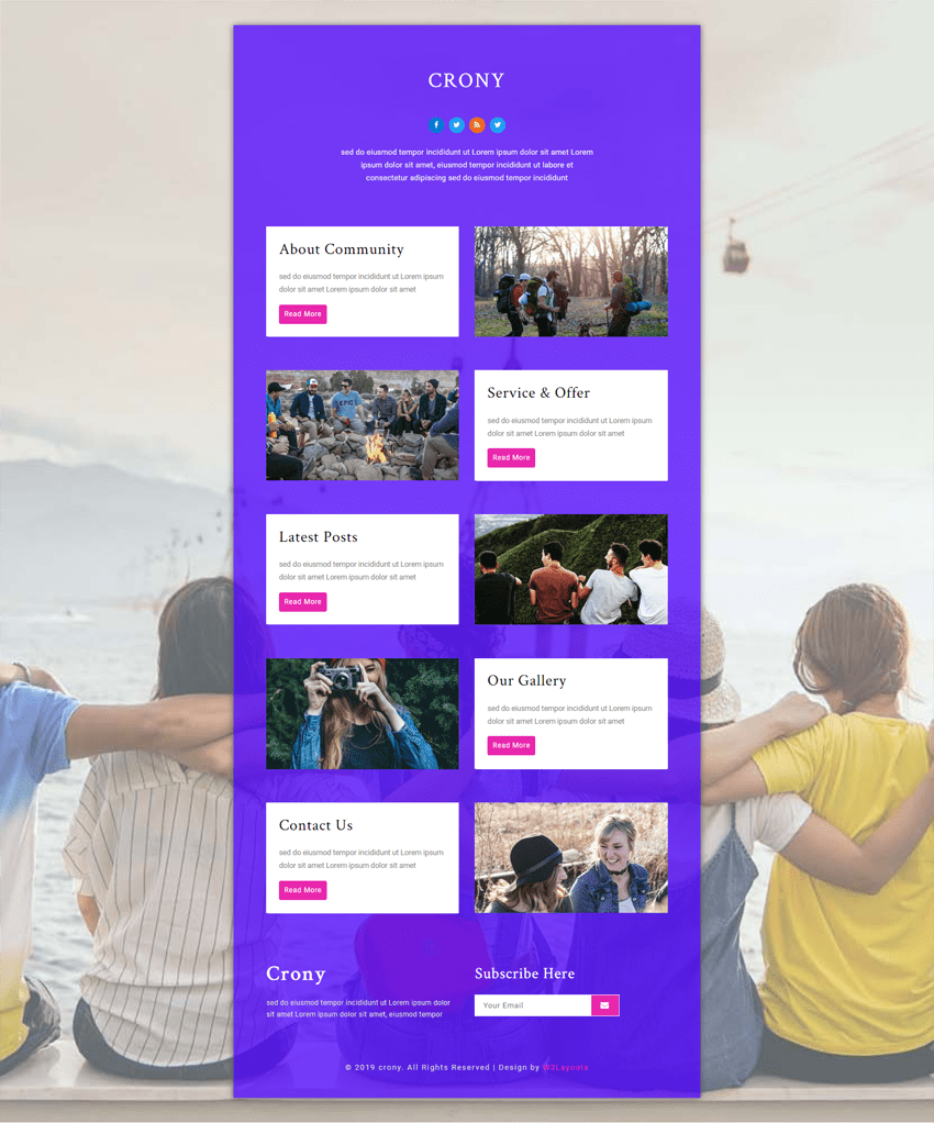 Crony is a community website template suitable for community websites, NGOs, Non-profits and welfare sites.