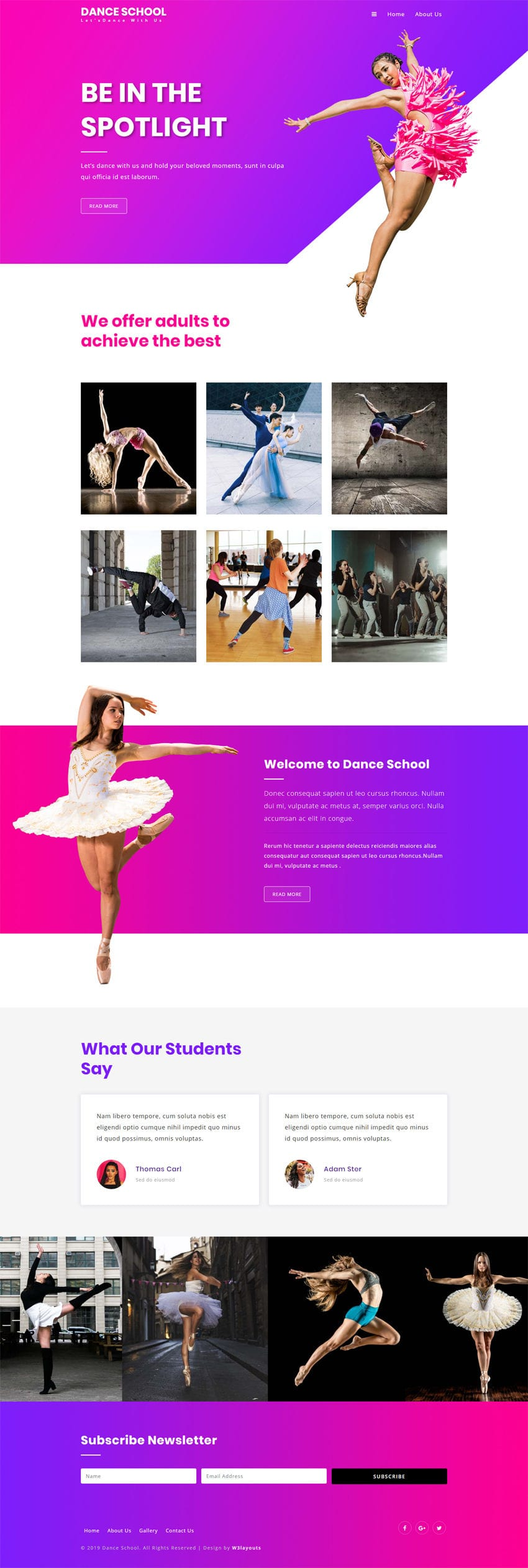 Dance school full screenshot