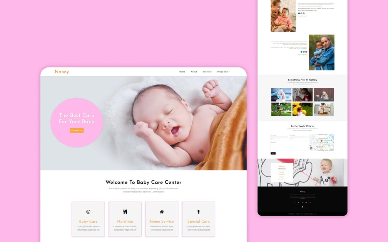Nanny – Society and People Category Bootstrap Responsive Website Template