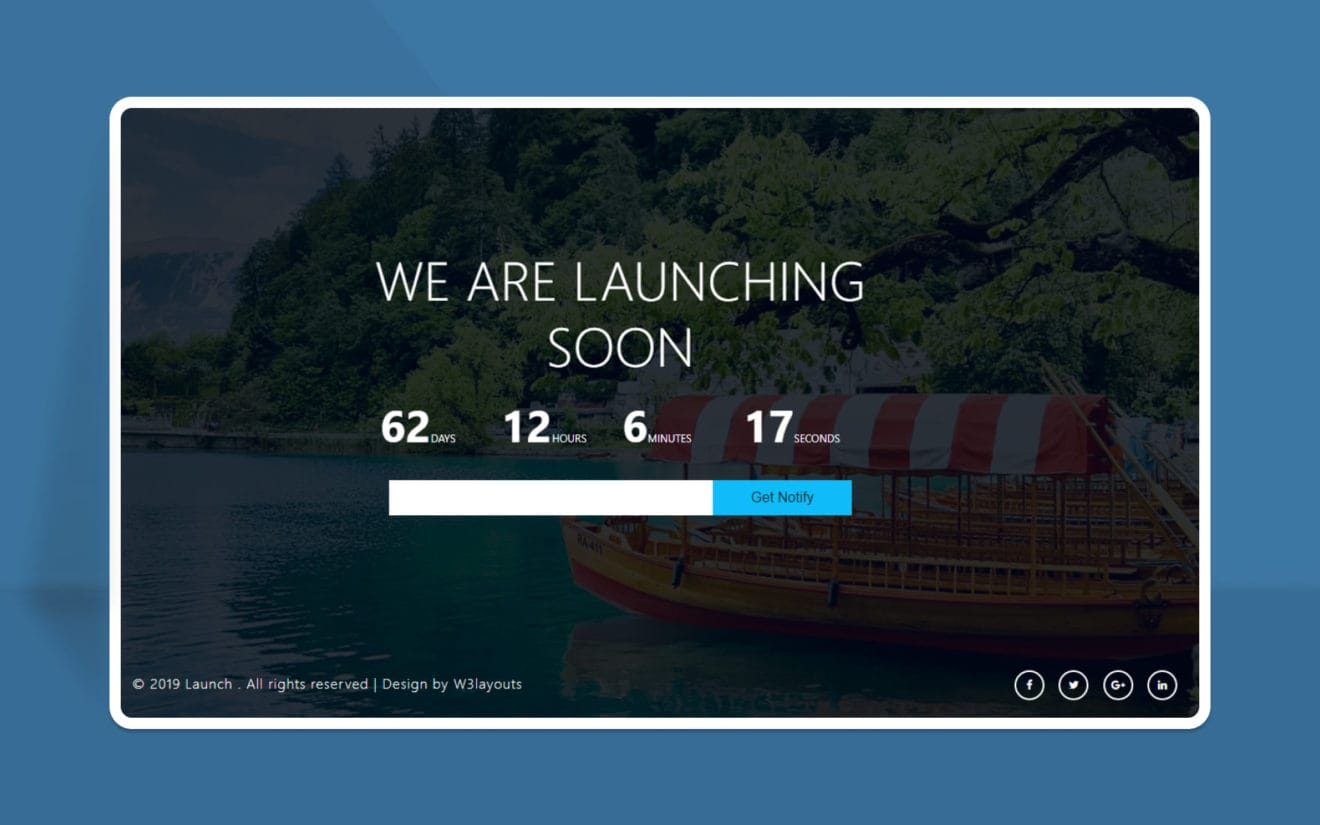 Launch – Free Coming Soon Page