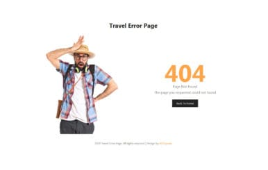 Travel error page featured image