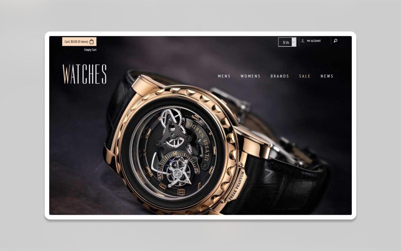 Watches ecommerce website template