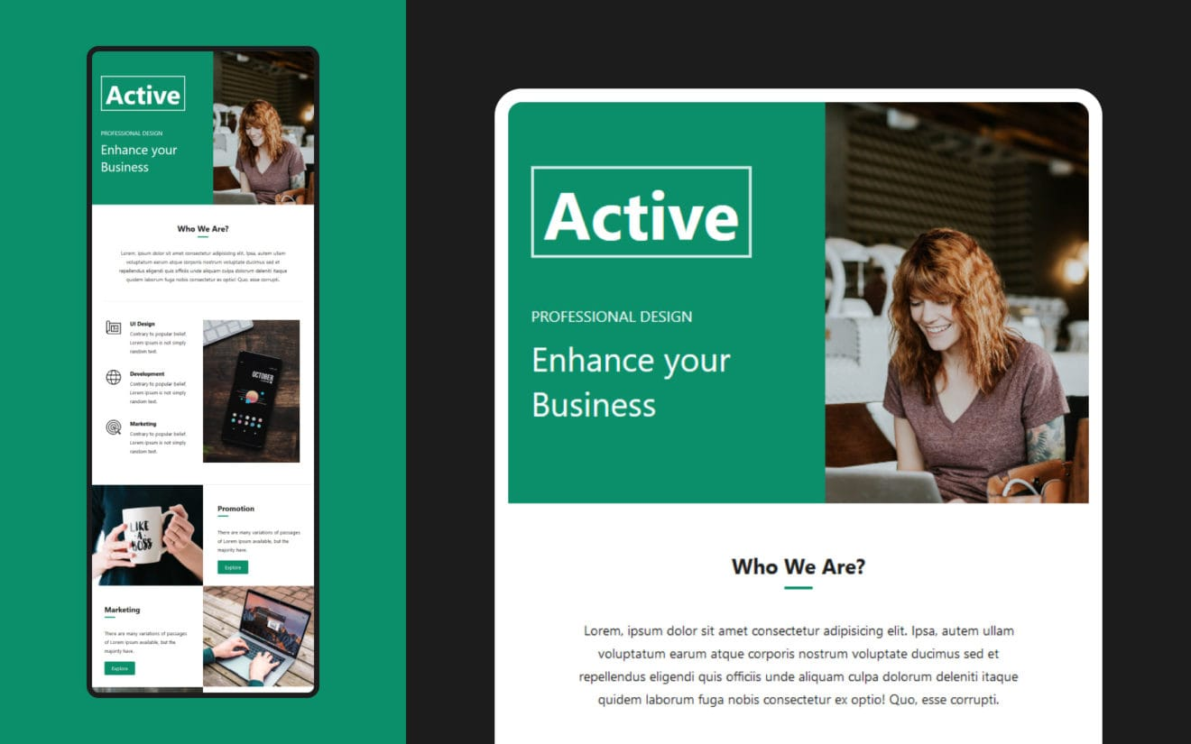 Active – Multipurpose Responsive Email Template
