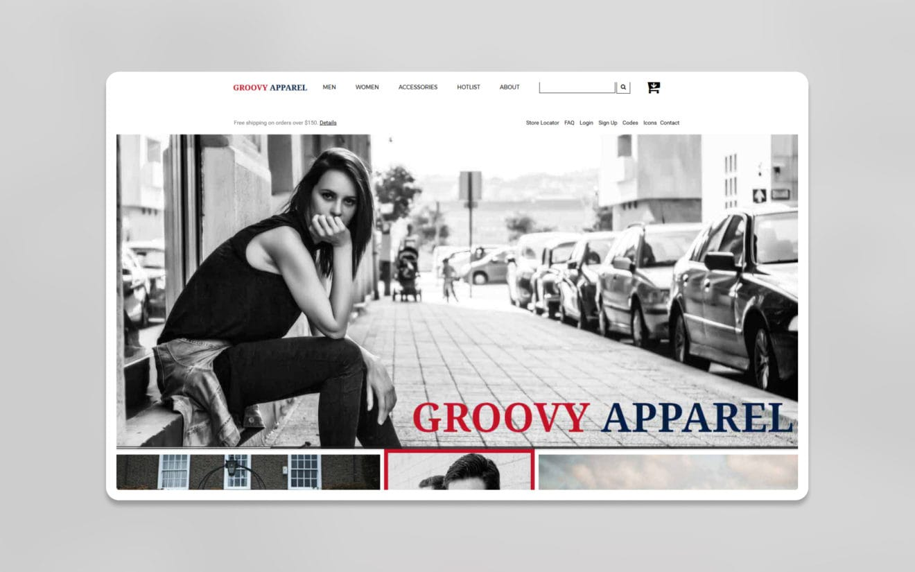 Groovy apparel ecommerce website template