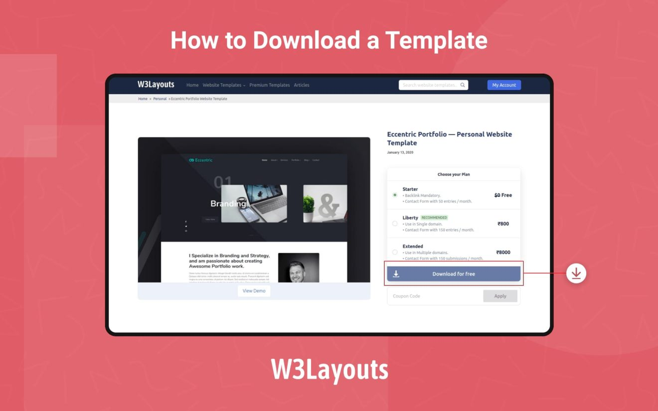 How to download a website template on w3layouts