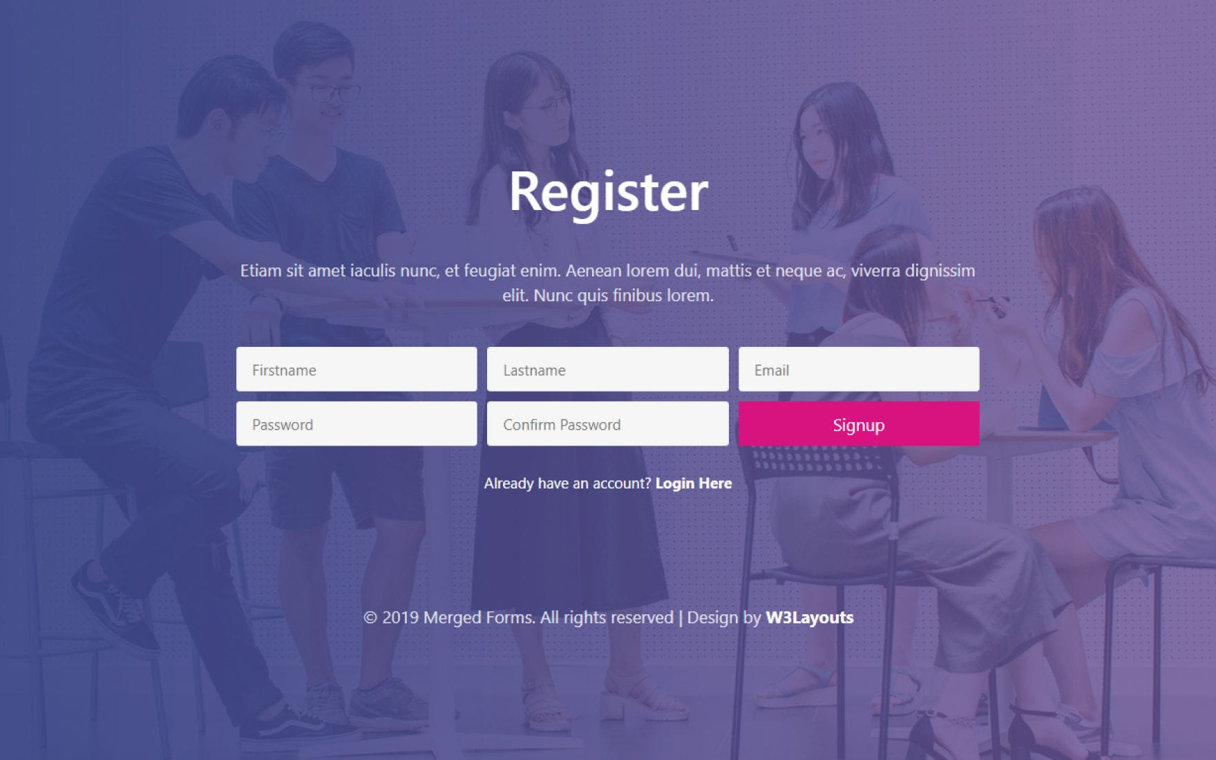 merged forms register