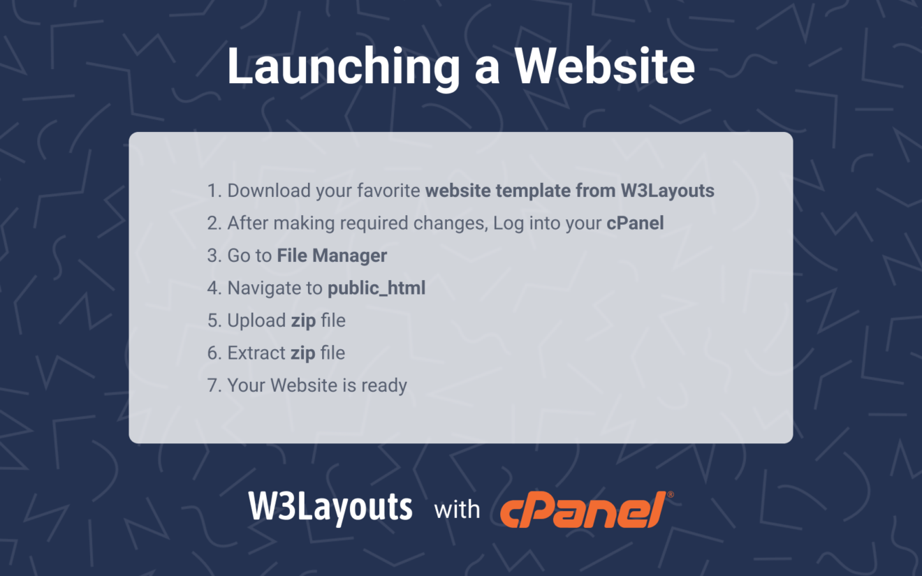 How to make a website live with cPanel Hosting using w3layouts web template