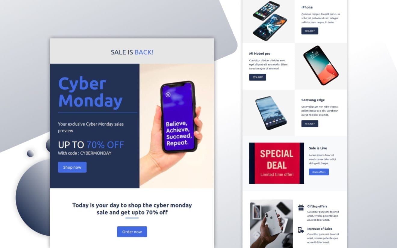 Cyber Monday sale 2019 Responsive Email Template