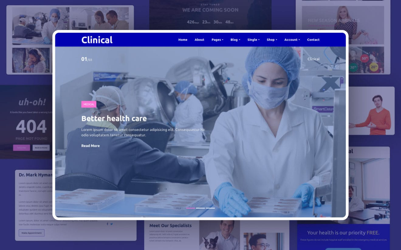 Clinical Website Template