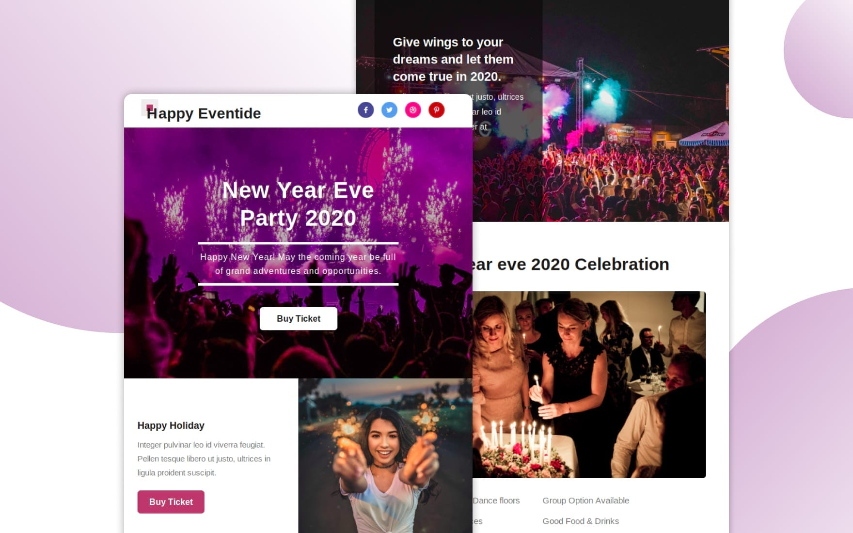 Happy Eventide Responsive Email Template