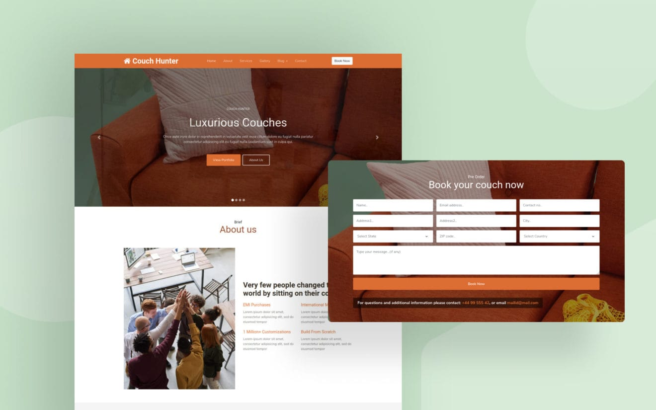 Couch Hunter v2 Website Template