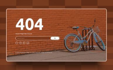 Bicycle Error Page Website Element