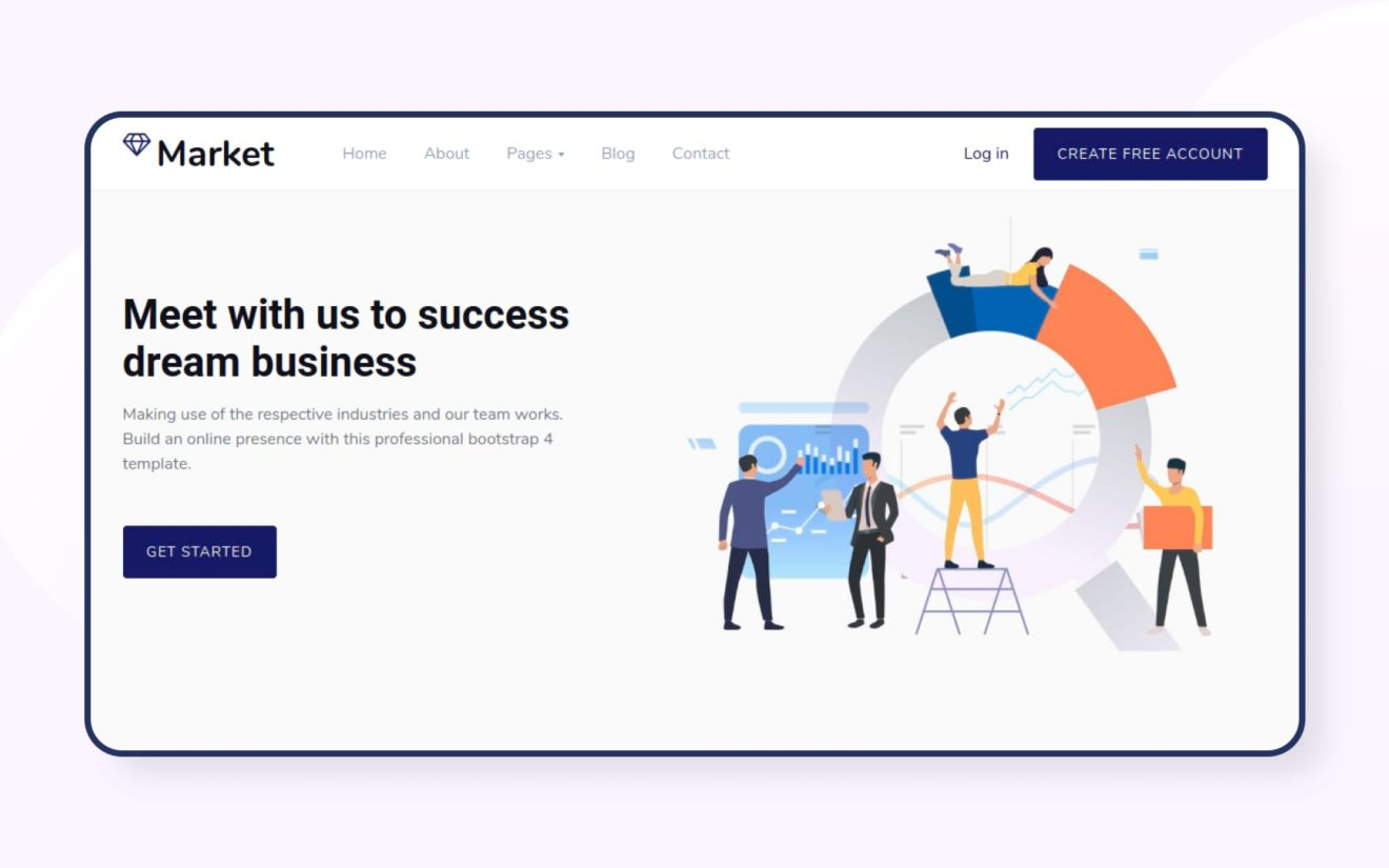 Market Website Template