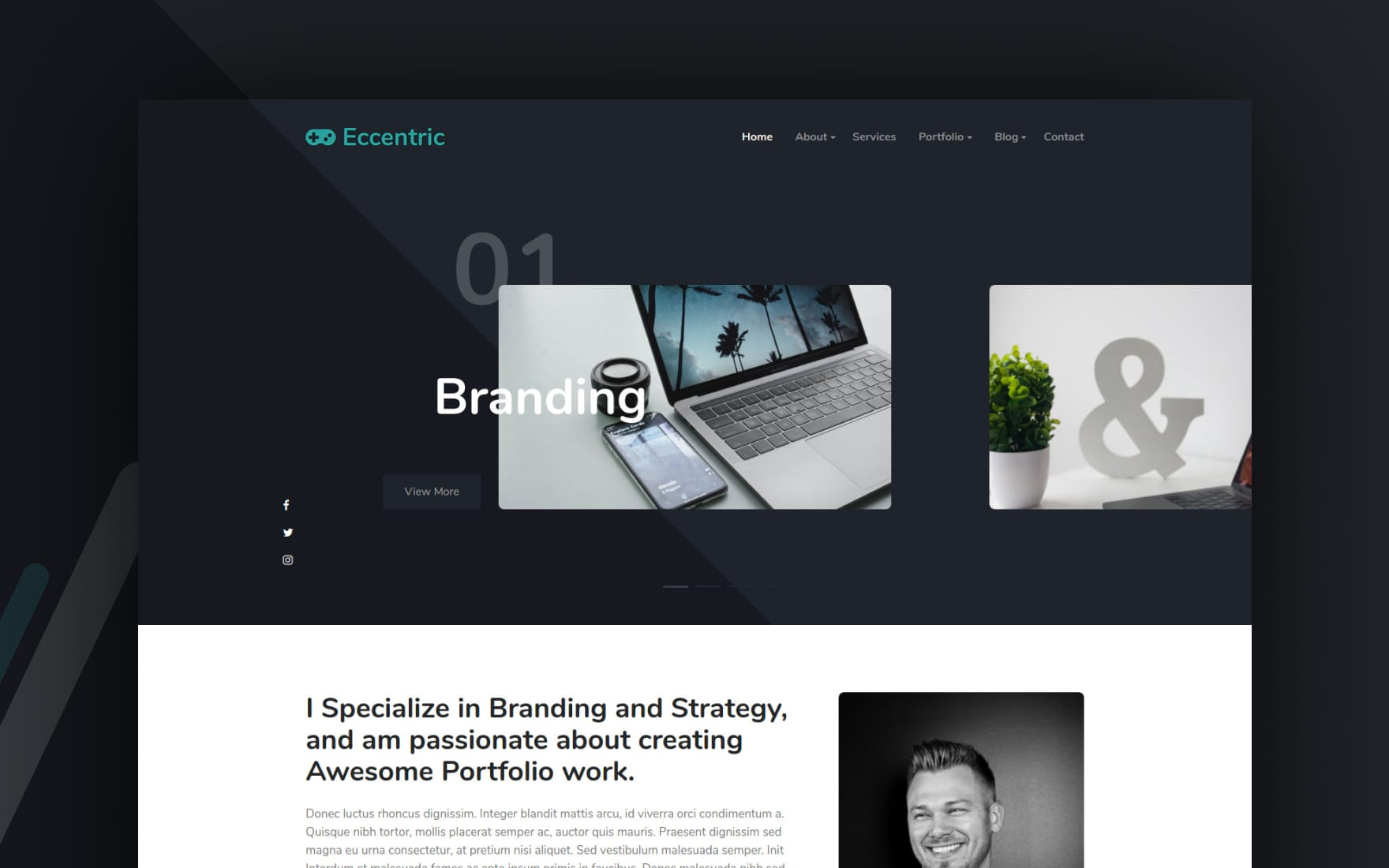 Eccentric Portfolio Website Template