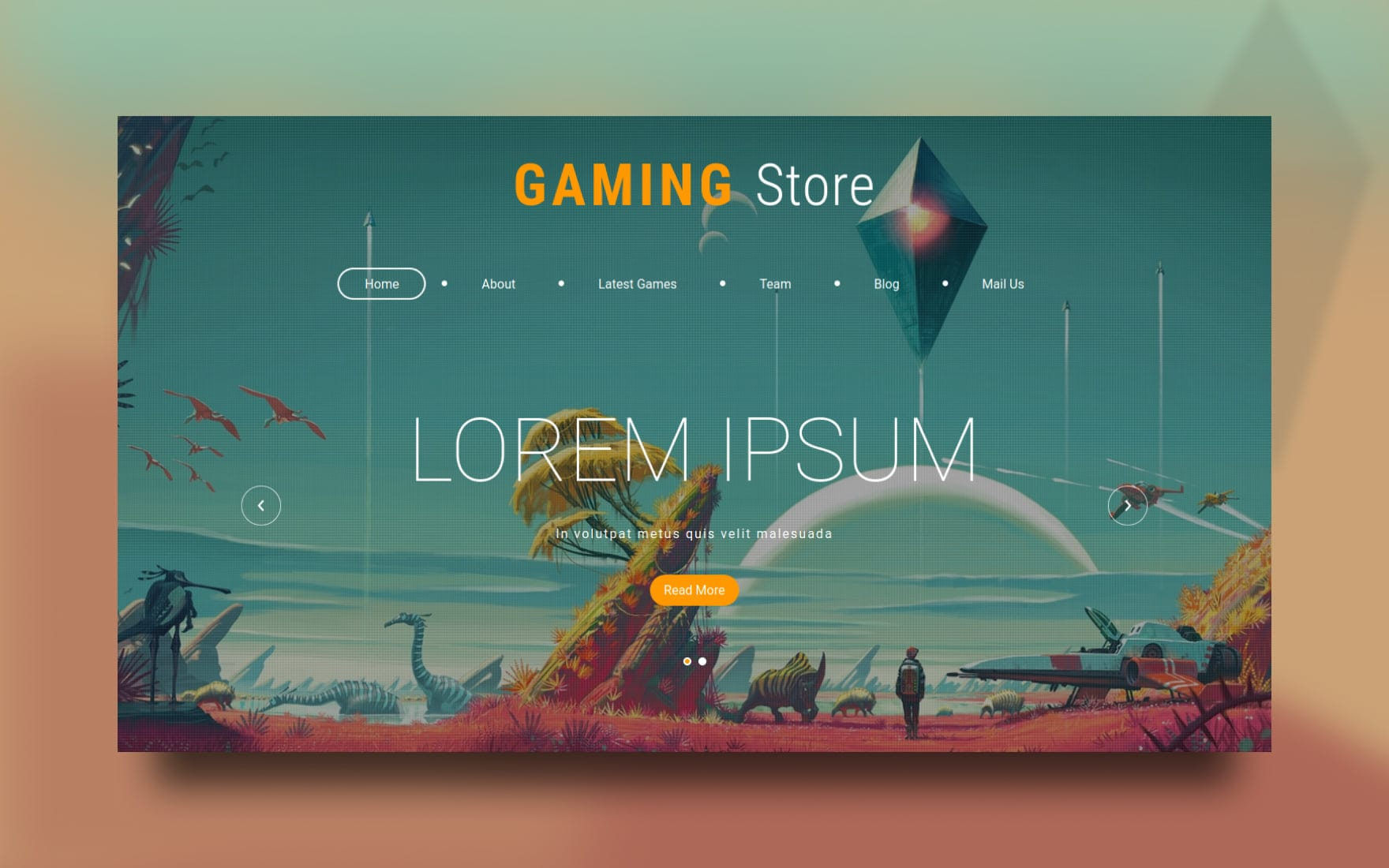 Gaming Store Website Template