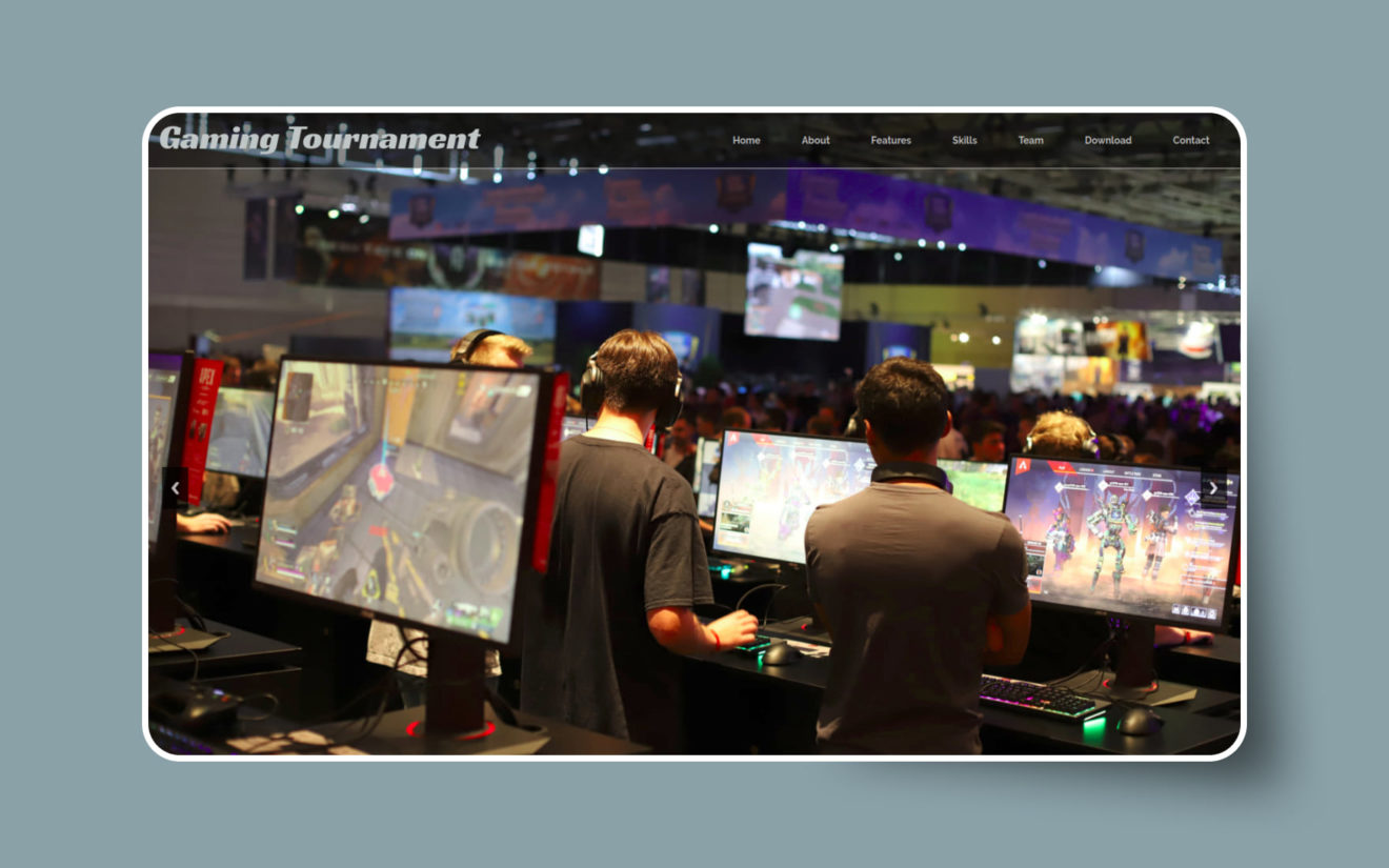 Gaming Tournament Website Template