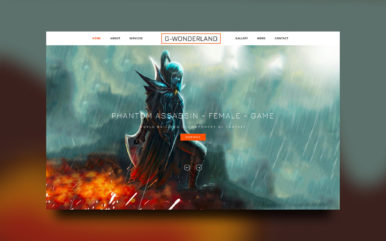 Gaming Wonderland  Website Template
